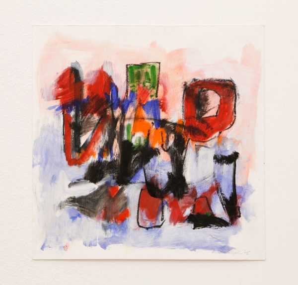 "Allen Bollinger Title: Untitled Medium: oil and oil pastel on 300# rag Date of work: 2015 Size: 16"" H x 16"" W Signed lower right Retail value: $300"