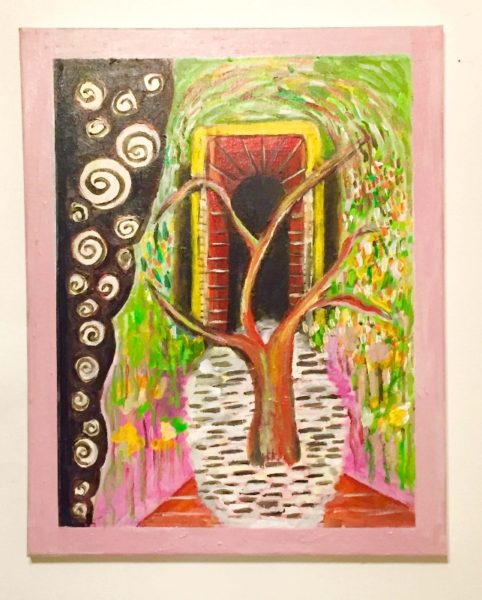 "Gul Cagin Title: Sensing the Thoughts of Time Passed Medium: Painting Date of work: 2016 Size: 20"" H x 16"" W Signed verso and framed Retail value: $300"