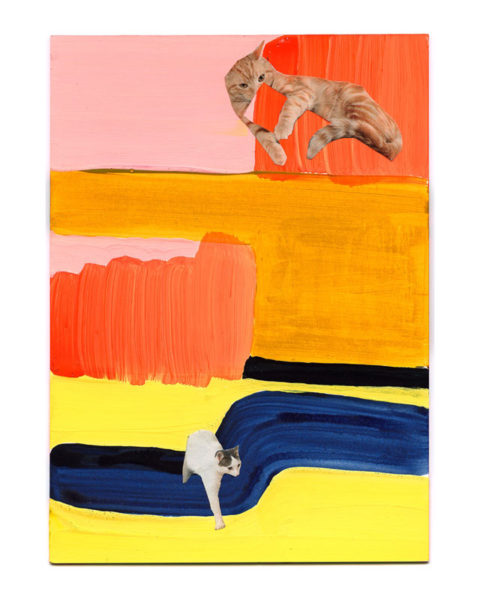 "Alice Clements Title: Tiny Cats Collage Print Medium: inkjet print Date of work: 2015 Size: 17"" H x 12"" D Signed verso Retail value: $30"