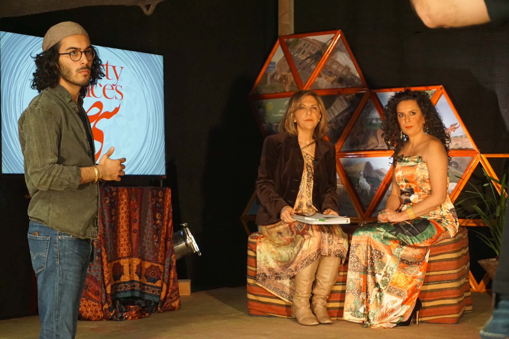 "behind the scenes of ""30 Voices,"" Curated by Haleh Manavi, Broadcasted world wide by Iranian Television"
