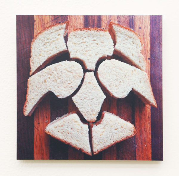 "Seth Kaufman Title: PB&J #210 and PB&J #203 Medium: UV inkjet print, MDO plywood Date of work: 2014 Edition: 2/100 Size: 9"" x 9"" x 0.5"" Signed center Retail value: $250 Winning Bid: $75.00"