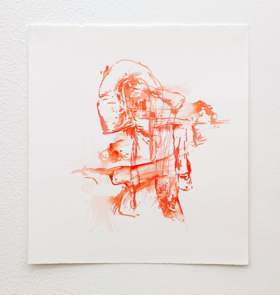 """Anders Lansing Title: Untitled Medium: ink/watercolor on paper Date of work: 2012 Size: 14"""" x 15"""" Signed verso Retail value: $400 Winning Bid: $125.00"""