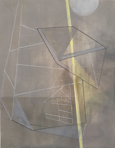 "Elizabeth Medina Title: Structure #5 Medium: oil on canvas Date of work: 2014 Size: 20' x 16"" Signed verso Retail value: $1200"