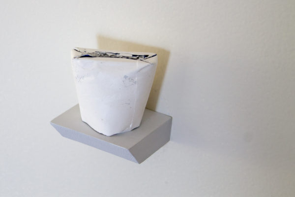"Christina Mesiti Title: Untitled Medium: Plaster and gift wrap Date of work: 2015 Size: 2"" x 2"" x 3"" Retail value: $360"
