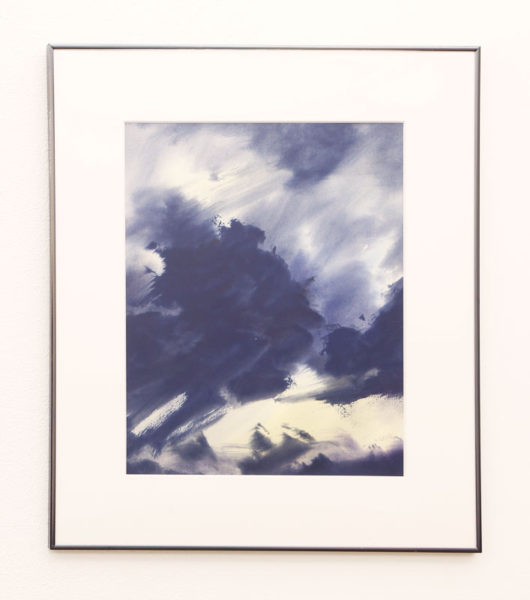 "John Rose Title: LA Thunderstorm Medium: watercolor Date of work: 1995 Size: 27"" x 23.5"" (framed) Signed front initials and verso and framed Retail value: $1500"
