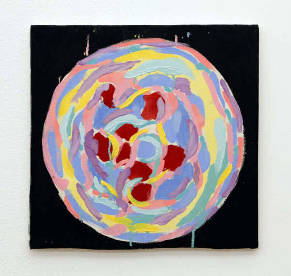 """Mira Schnedler Title: Untitled Medium: Oil on canvas Date of work: 2016 Size: 16"""" x 16"""" Signed verso Retail value: $1125"""