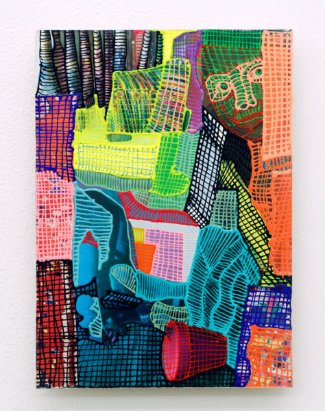"""Jaime Scholnick Title: FACE/VASE Medium: Mixed media on paper mounted on board Date of work: 2013 Size: 15"""" x 11"""" Signed verso Retail value: $1900"""