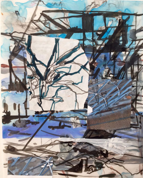 Marie Thibeault Title: Study for Night Tree Medium: Mixed media on paper Date of work: 2015 Size: Signed verso Retail value: $900