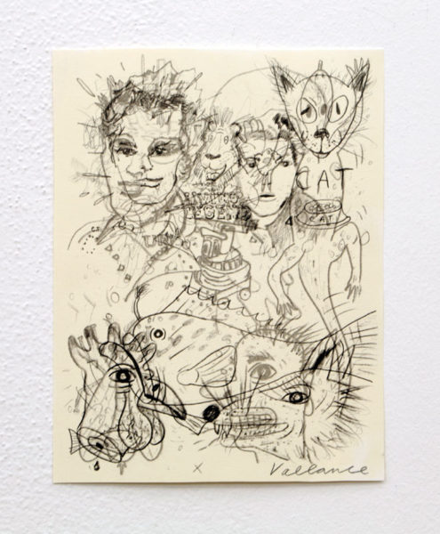 "Jeffrey Vallance Title: Dat Cat (Buck Shanty) Medium: serigraph and pencil on paper Date of work: 2016 Size: 18"" x 12"" Signed front Retail value: $2500 Winning Bid: $550.00"